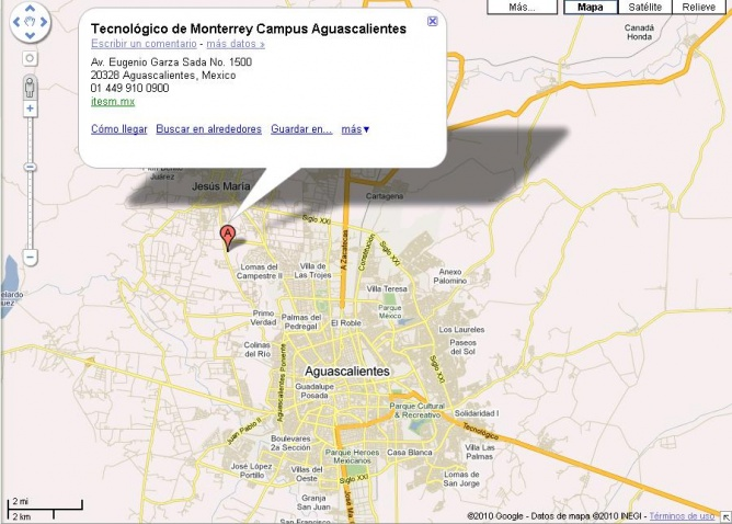 Aguascalientes Google Map