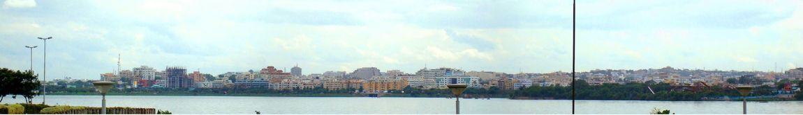 Panorama of Hyderabad, as seen from the Hussain Sagar lake. Source: https://en.wikipedia.org/wiki/Hyderabad#/media/File:Hydskyline.jpg